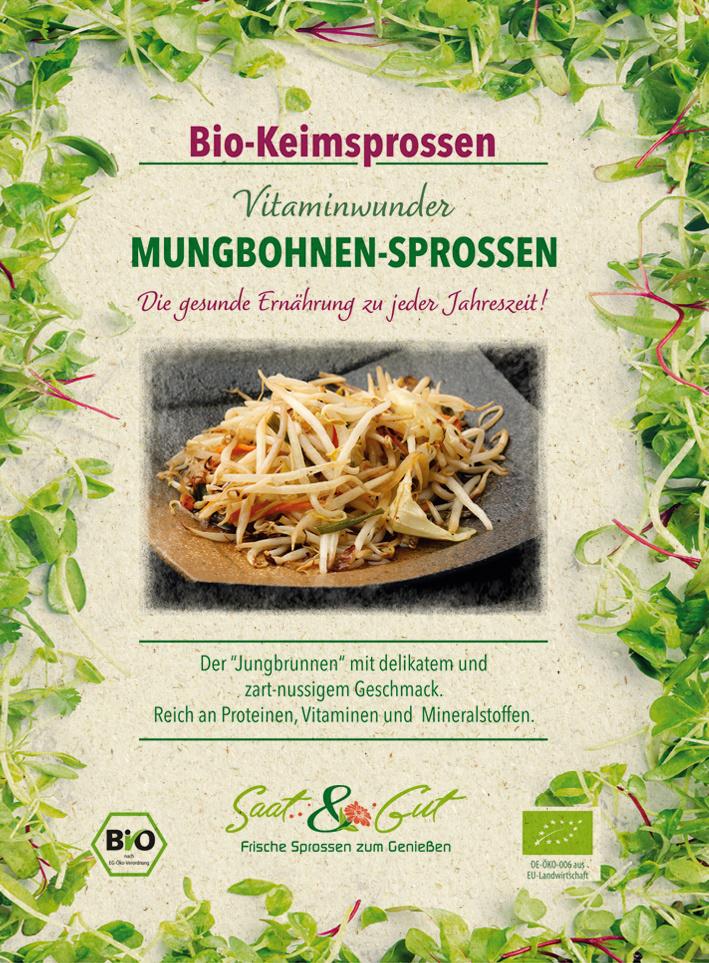 Saat & Gut BIO-Keimsprossen Mungbohnen