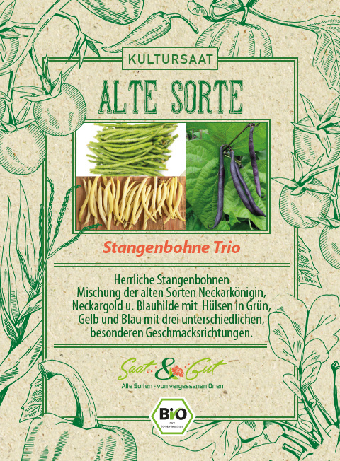Saat & Gut BIO-Stangenbohnen Trio