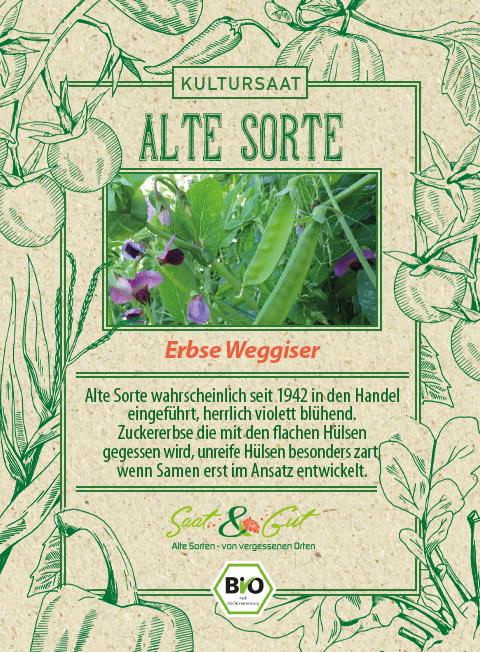 Saat & Gut BIO-Erbse Weggiser