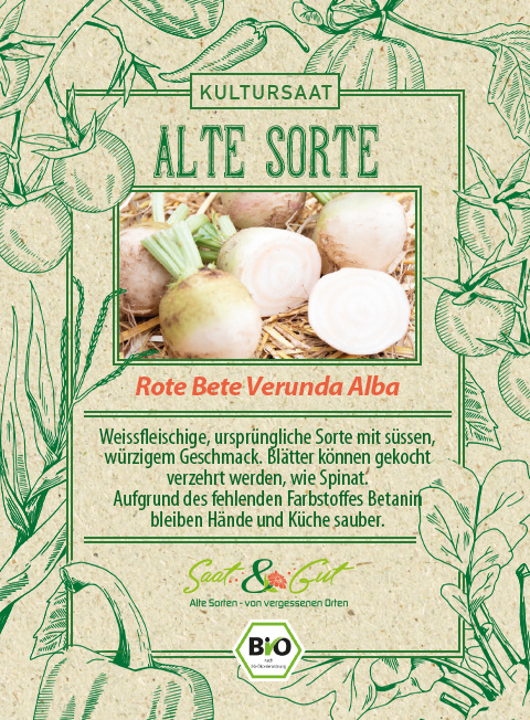 Saat & Gut BIO-Rote Bete Vereduna Alba