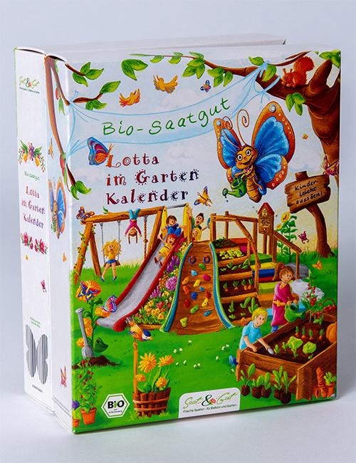Saat & Gut BIO Saatgut Geburtstags- u. Frühjahrskalender 'Mit Lotta im Garten'