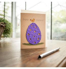Stadtgärtner Saat-Grußkarte Frohe Ostern!