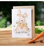 Saat-Faltkarte Frohe Ostern!