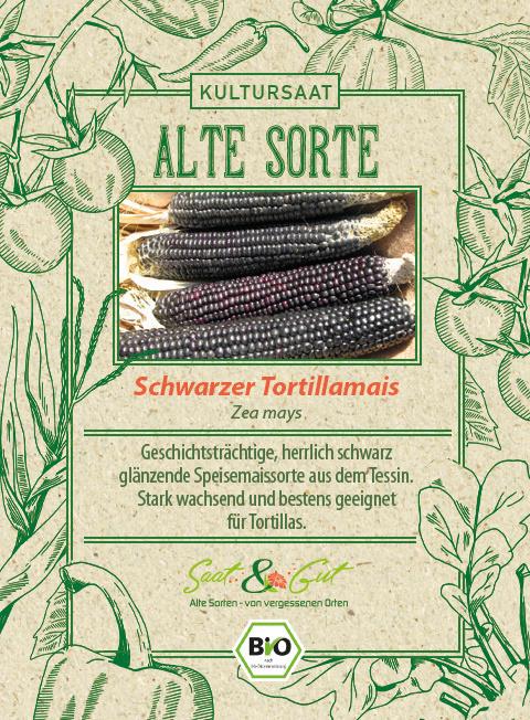 Saat & Gut BIO-Schwarzer Tortillamais