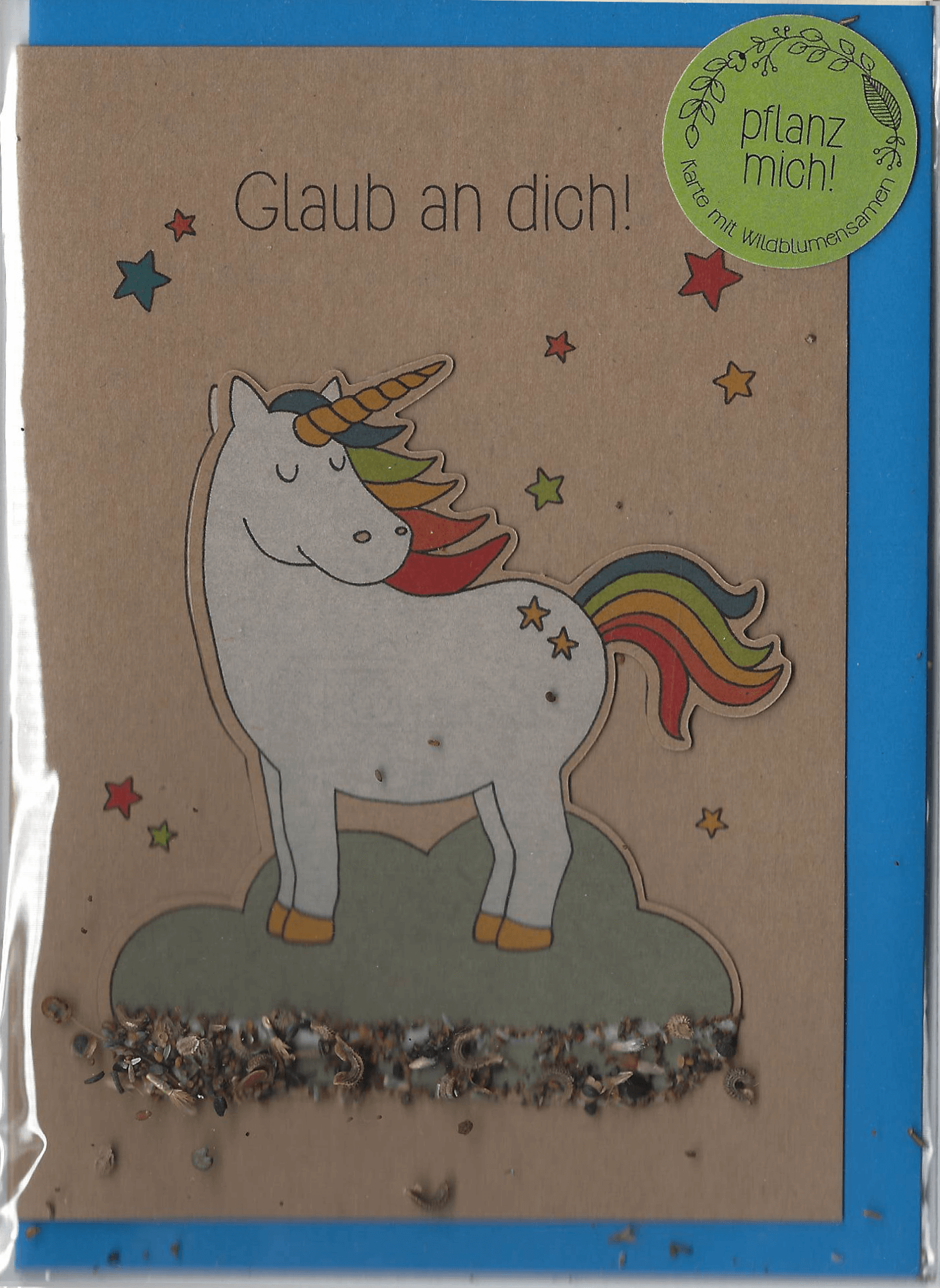 Stadtgärtner Saat-Grußkarte Glaub an Dich! - Einhorn