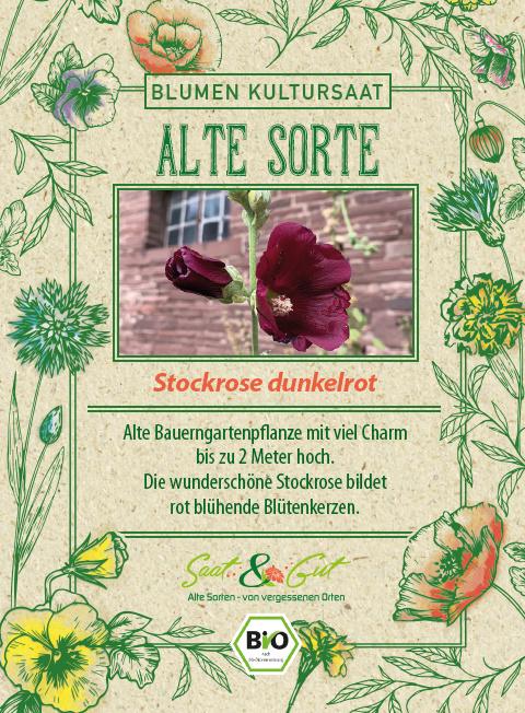 Saat & Gut BIO-Stockrose dunkelrot