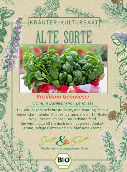 Saat & Gut BIO-Basilikum Genoveser