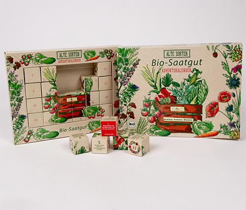 Saat & Gut BIO Alte Sorten Saatgut Würfel-Adventskalender