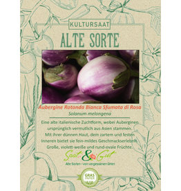 Saat & Gut BIO-Aubergine Rotonda Bianca Sfumata di Rosa