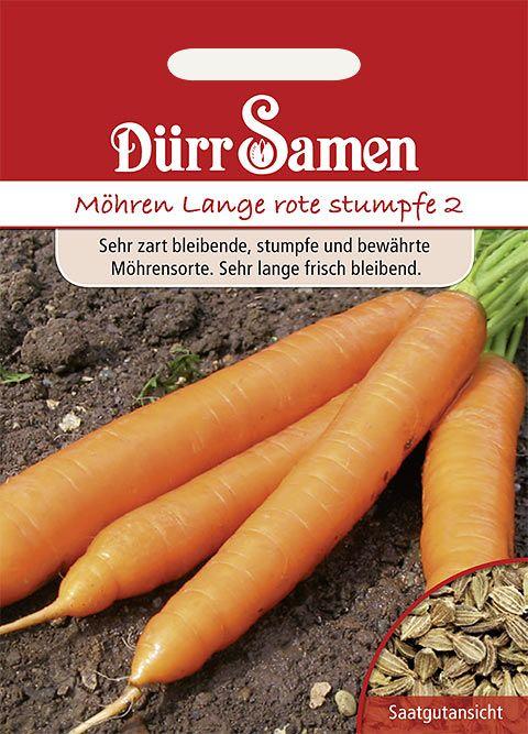Dürr Samen Möhren Lange rote stumpfe o.H. 2