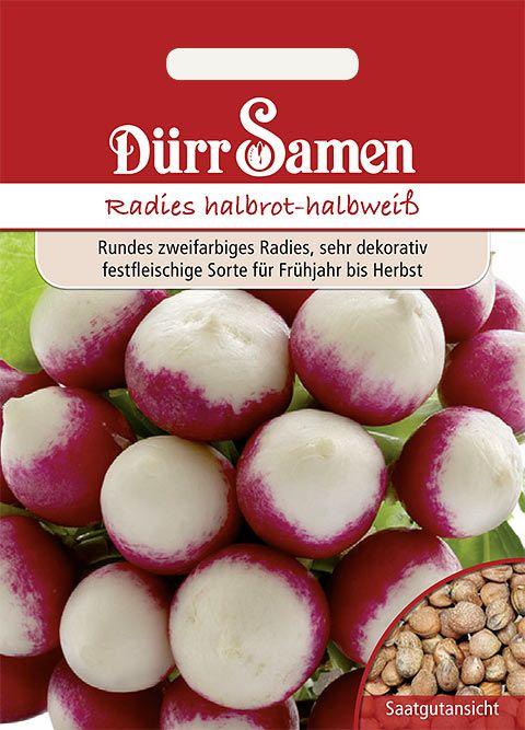 Dürr Samen Radies  Halbrot-Halbweiß