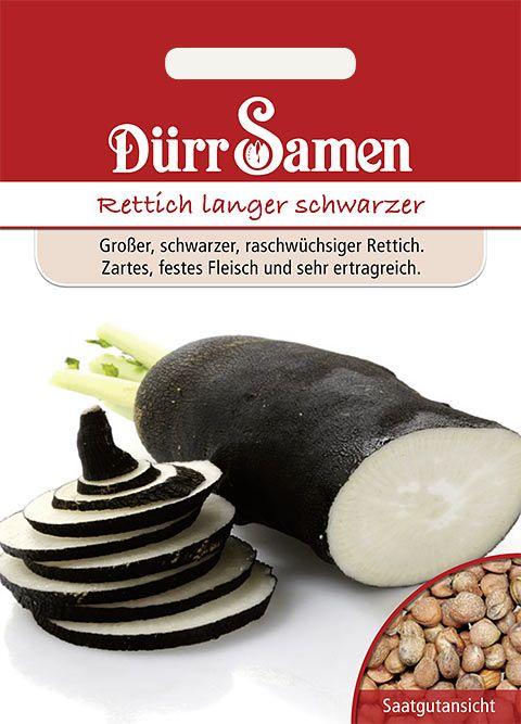 Dürr Samen Winterrettich  Langer schwarzer