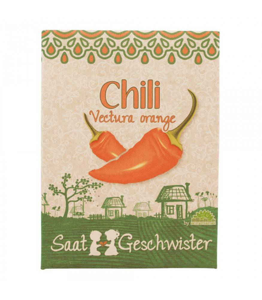 Stadtgärtner Saatgeschwister - Chili Vectura Orange