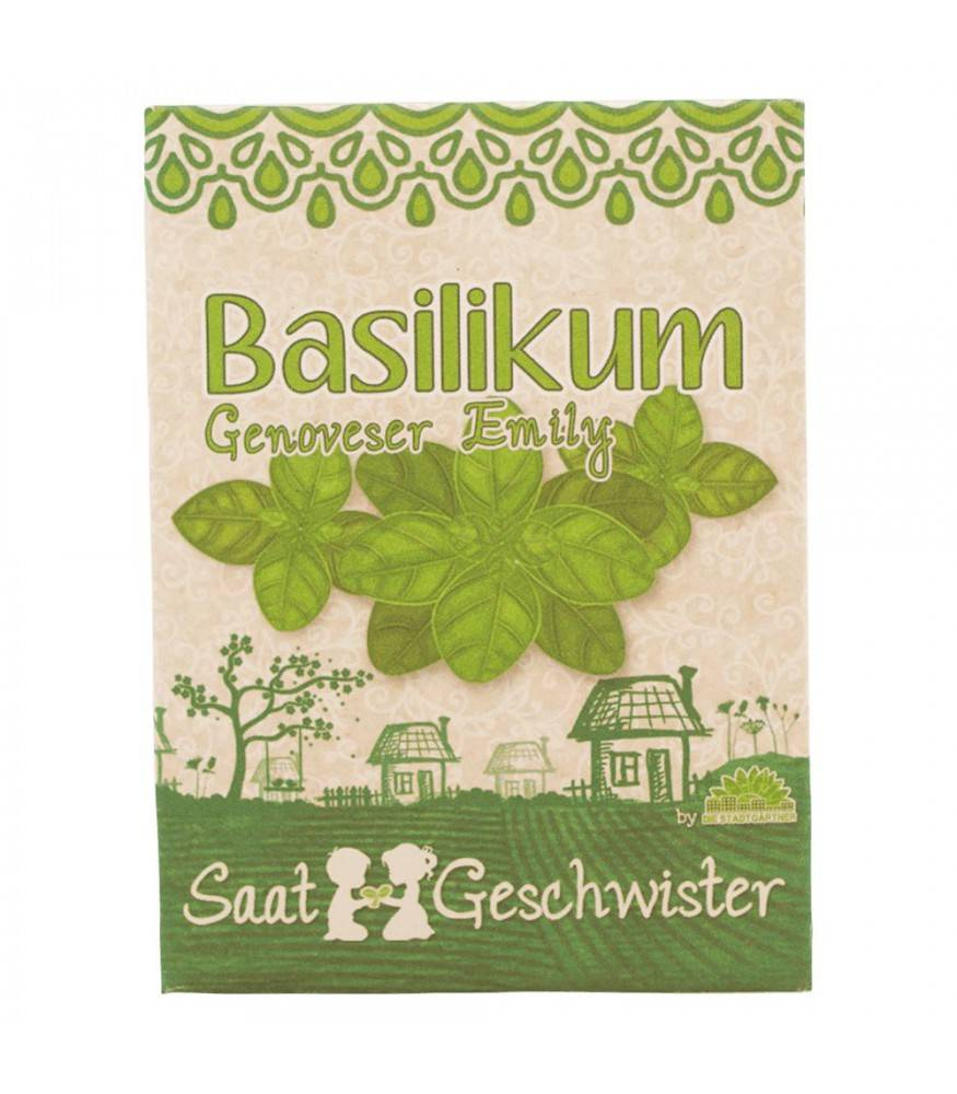 Stadtgärtner Saatgeschwister - BIO Basilikum Genoveser Emily