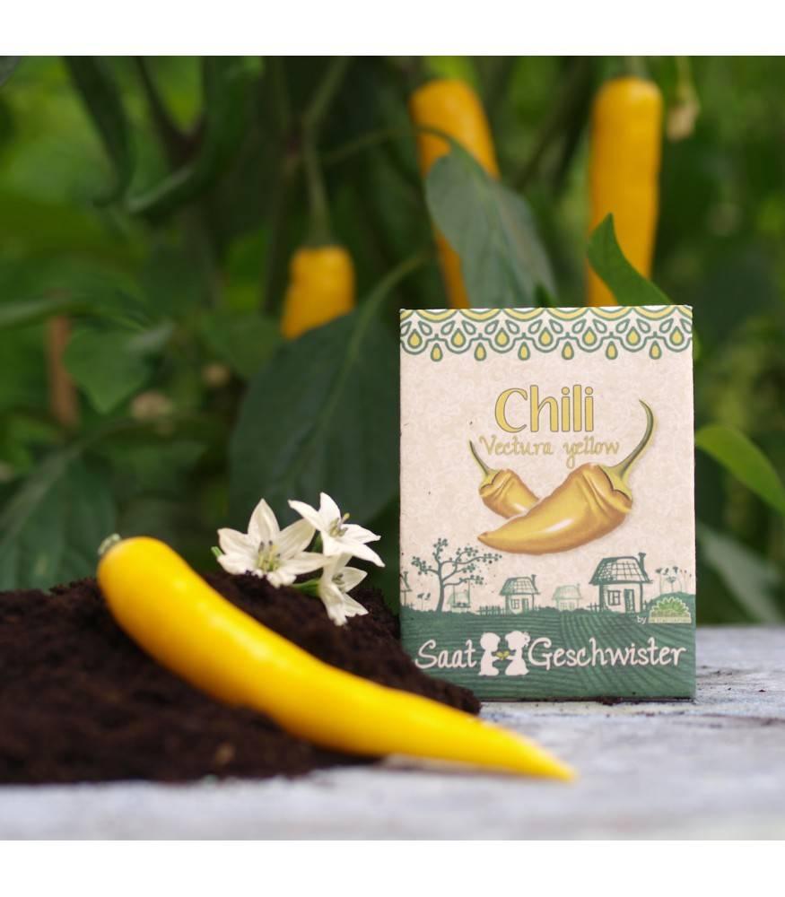 Stadtgärtner Saatgeschwister - Chili Vectura Yellow