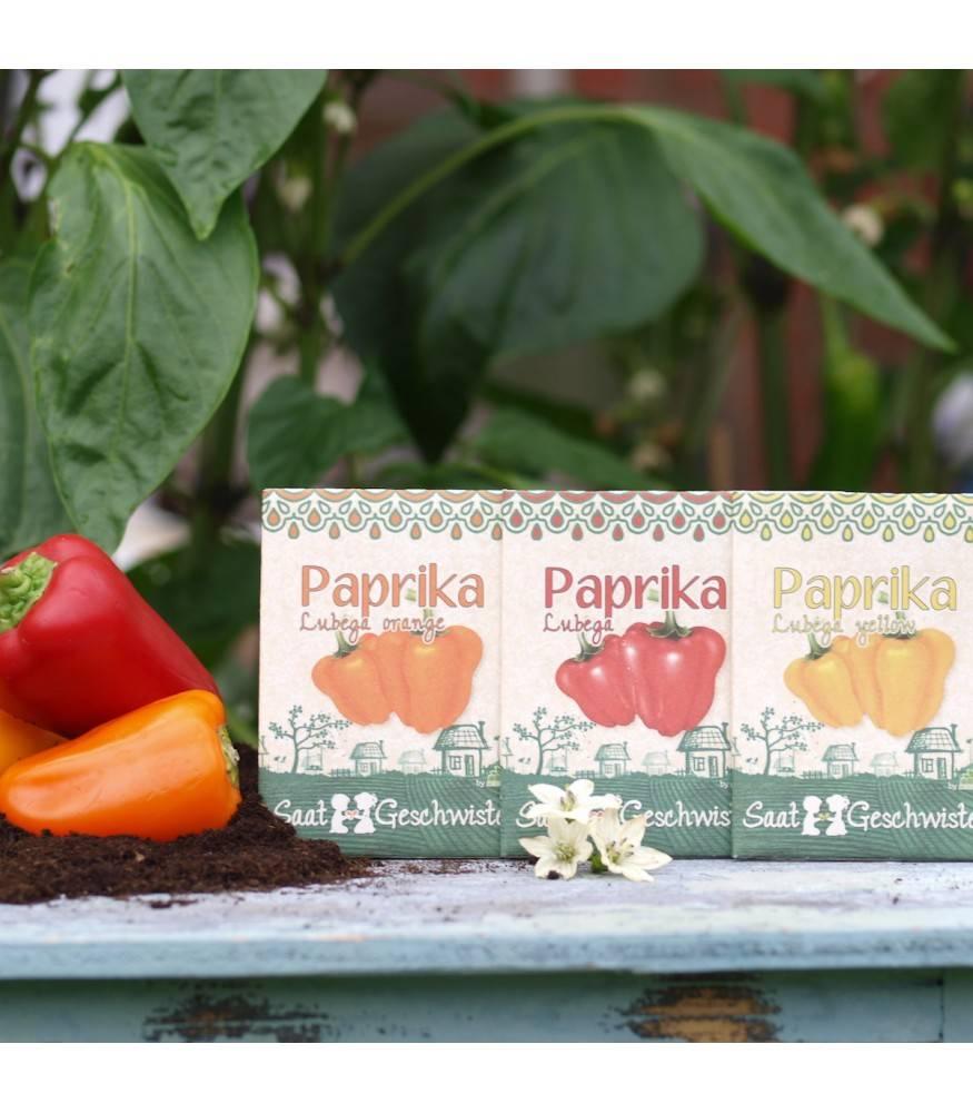 Stadtgärtner Saatgeschwister - Paprika Lubega Orange