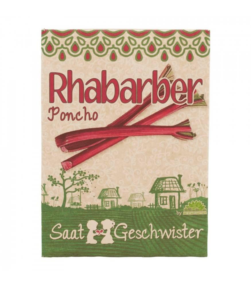 Stadtgärtner Saatgeschwister - Rhabarber Poncho