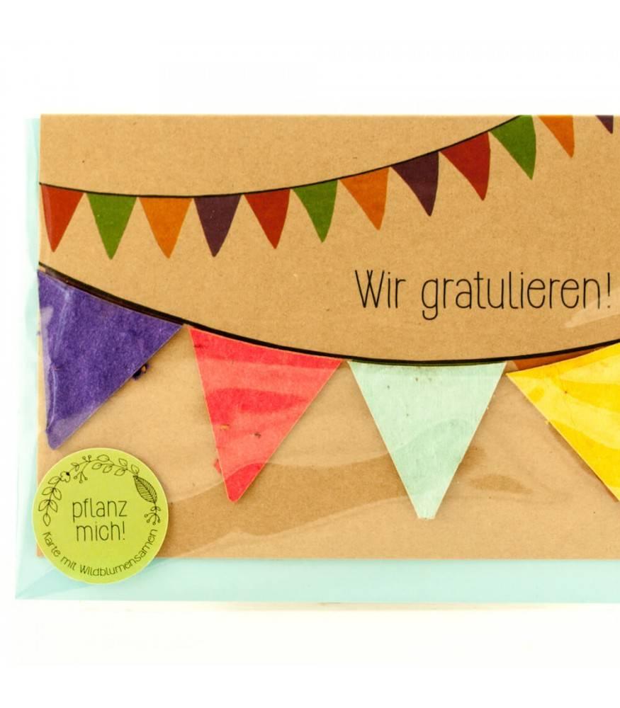 Stadtgärtner Saat-Grußkarte Wir gratulieren