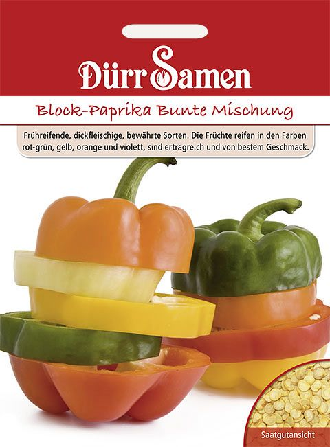 Dürr Samen Block-Paprika  Bunte Mischung
