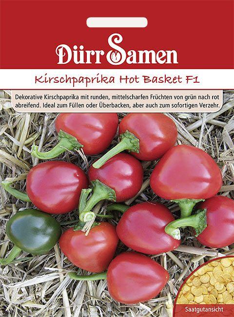 Dürr Samen Balkon-Kirschpaprika  Hot Basket F1