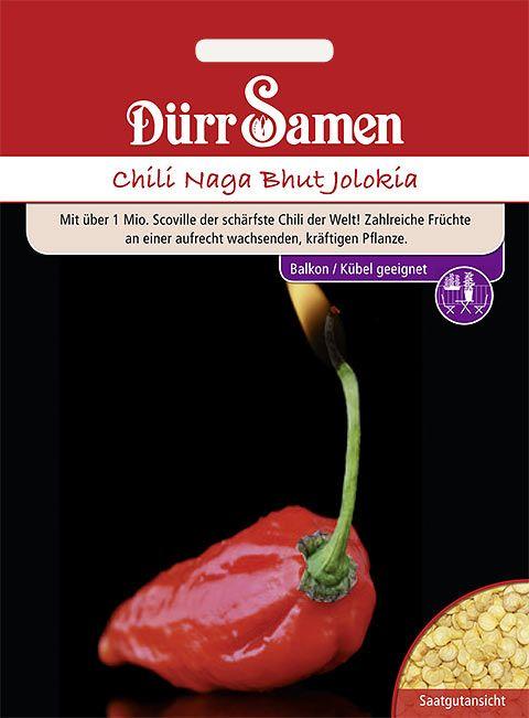 Dürr Samen Chilisamen  Naga Bhut Jolokia