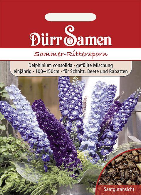 Dürr Samen Sommer-Rittersporn Mischung, einjährig, 100–150cm