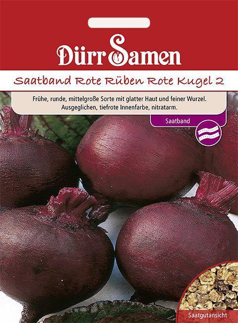 Dürr Samen Saatband Rote Rüben Rote Kugel 2