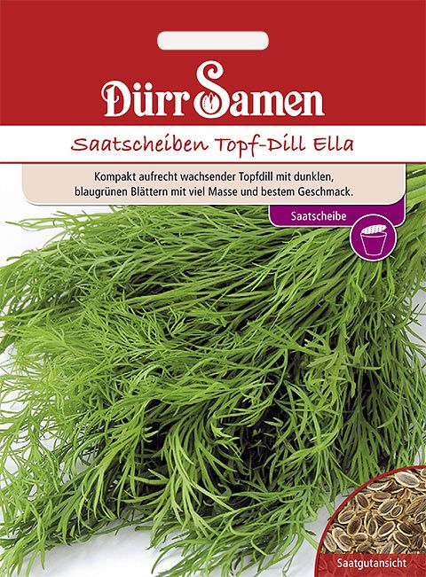 Dürr Samen Saatscheiben Topf-Dill Ella