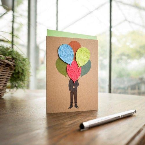 Stadtgärtner Saat-Grußkarte Ballonstrauß
