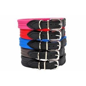 Leren honden halsband (soft)