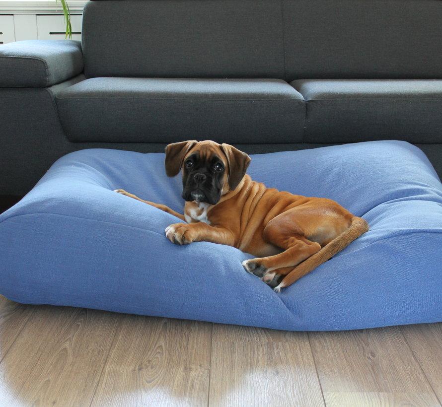 Hondenbed manhattan blue linnen