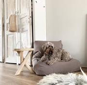 Dog's Companion® Hondenbed walnut linnen