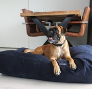 Dog's Companion® Hondenbed donkerblauw ribcord