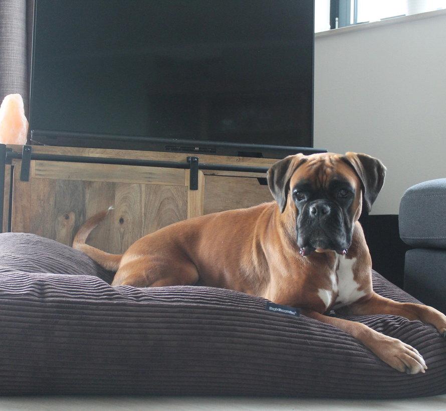 Hondenbed Espresso giant ribcord