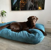 Dog's Companion® Hondenbed Petrol giant ribcord