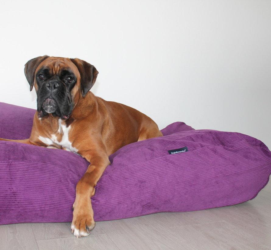 Hondenbed paars ribcord