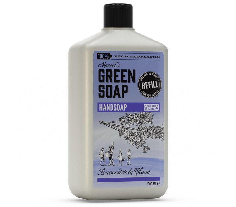Handzeep navulfles Lavendel & Kruidnagel (1000 ml)
