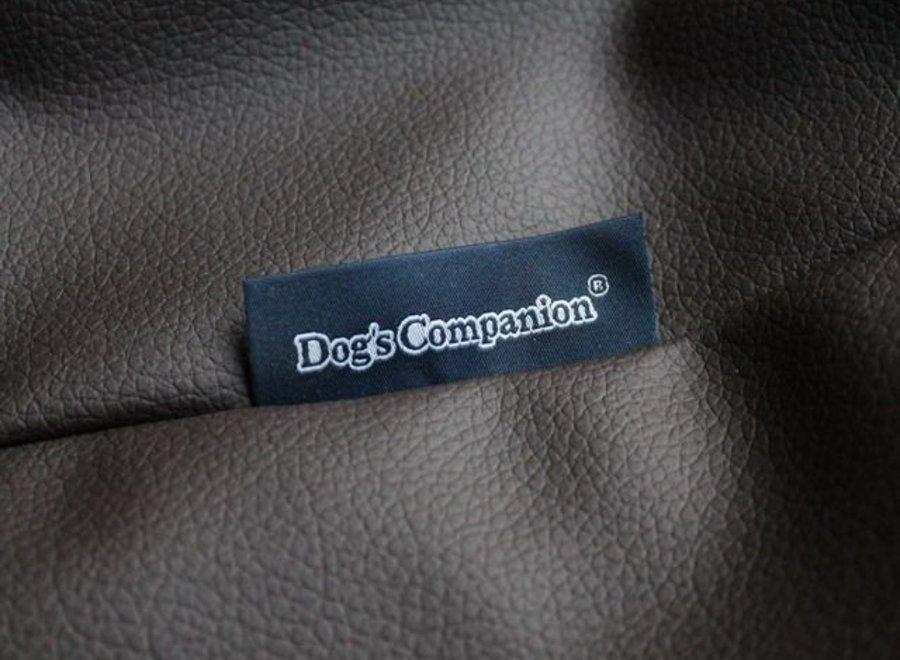 Hundebett Schokolade Braun Leather Look Large