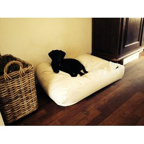 Dog's Companion® Hundebett Ivory leather look