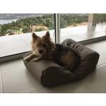 Dog's Companion® Hundebett Taupe Leather Look Small