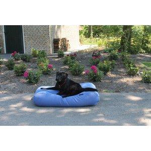 Dog's Companion® Hundebett Manhattan Blau Leinen Medium