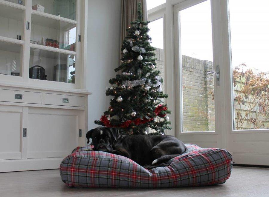 Hundebett Scottish Grau Large