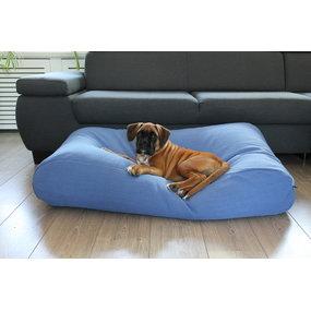 Dog's Companion® Hundebett Manhattan Blau Leinen Superlarge