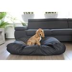 Dog's Companion® Hundebett Schwarz Leather Look Medium