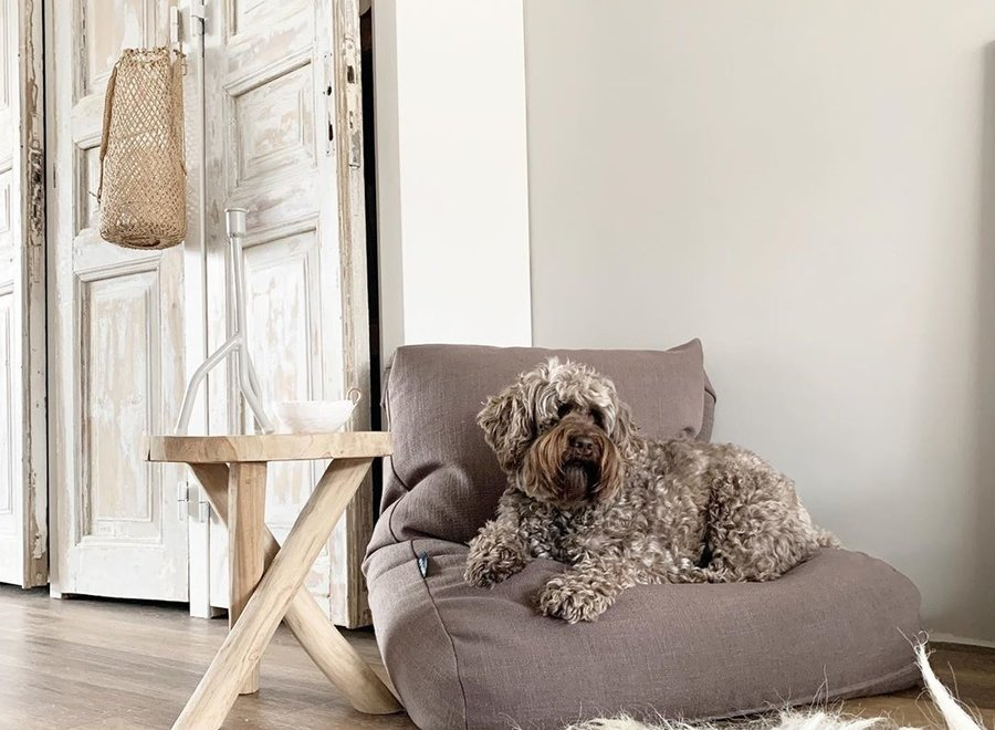 Hundebett Walnut Leinen Large