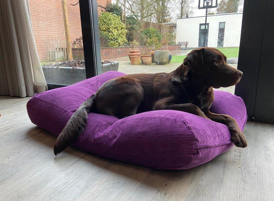 Hundebett Violett (Cord) Medium