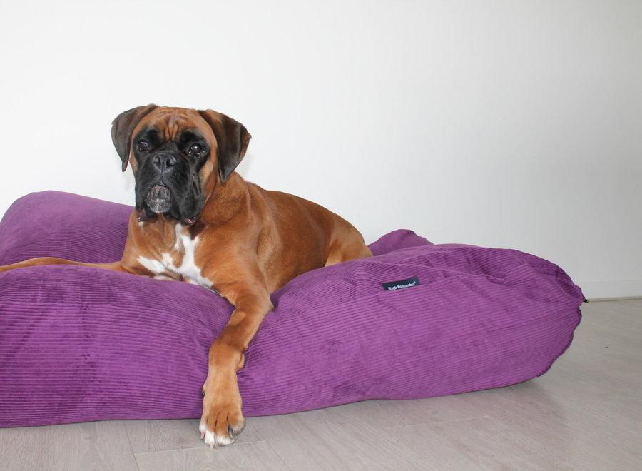 Hundebett Violett (Cord) Superlarge