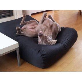 Dog's Companion® Hundebett Schwarz (Beschichtet) Small