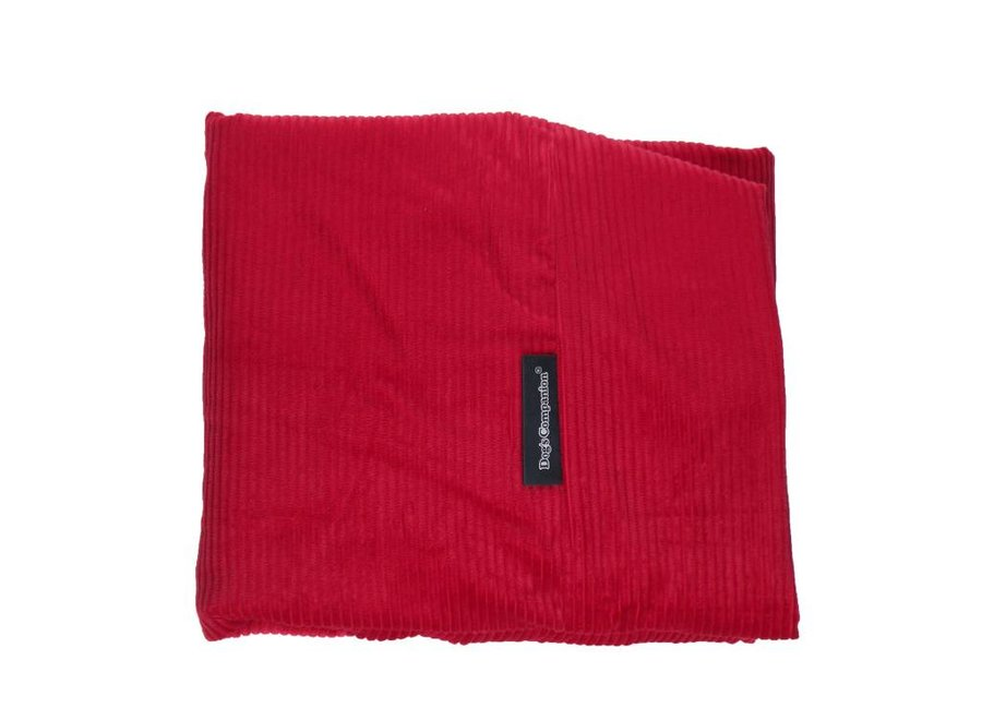 Hundebett Rot (Cord) Large