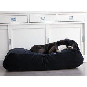 Dog's Companion® Hundebett Schwarz (Cord) Large